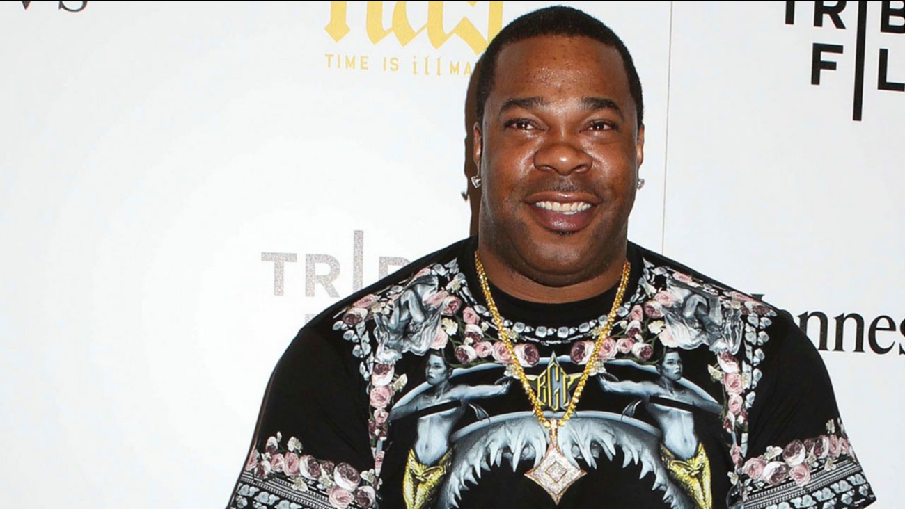 FILE- In this Sept. 30, 2014, file photo, rapper Busta Rhymes attends the premiere of 'Nas: Time Is Illmatic' at the Museum of Modern Art in New York.