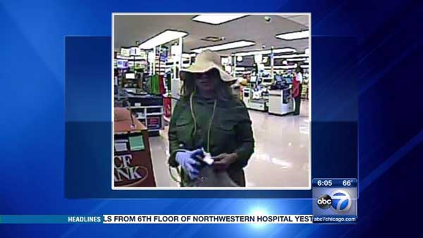 Police are searching for a woman who robbed a TCF bank in Chicago's Lakeview neighborhood.