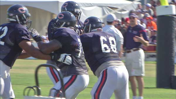 The Chicago Bears are encouraging fans to be healthy this summer by offering free cancer screenings at training camp.