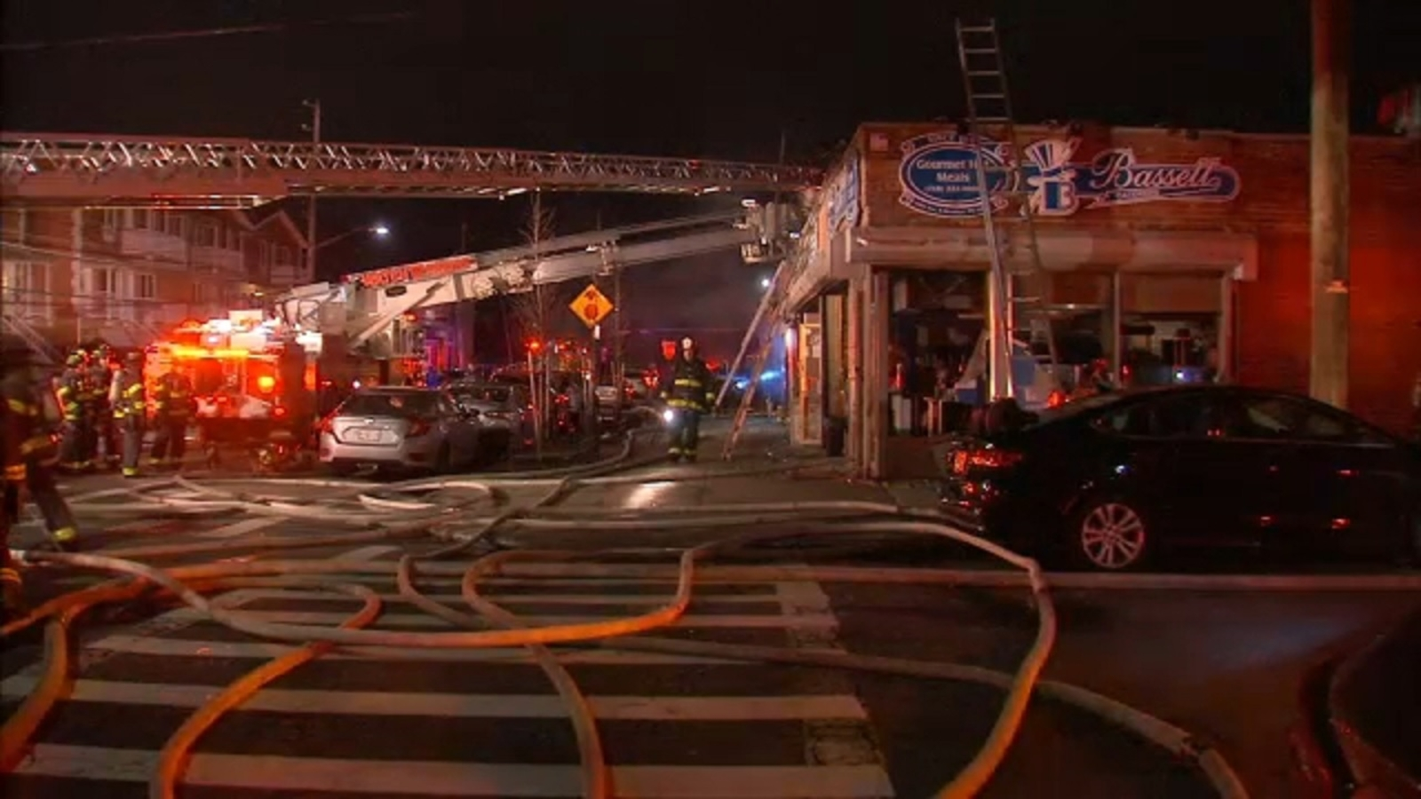 Fire tears through Brooklyn catering company
