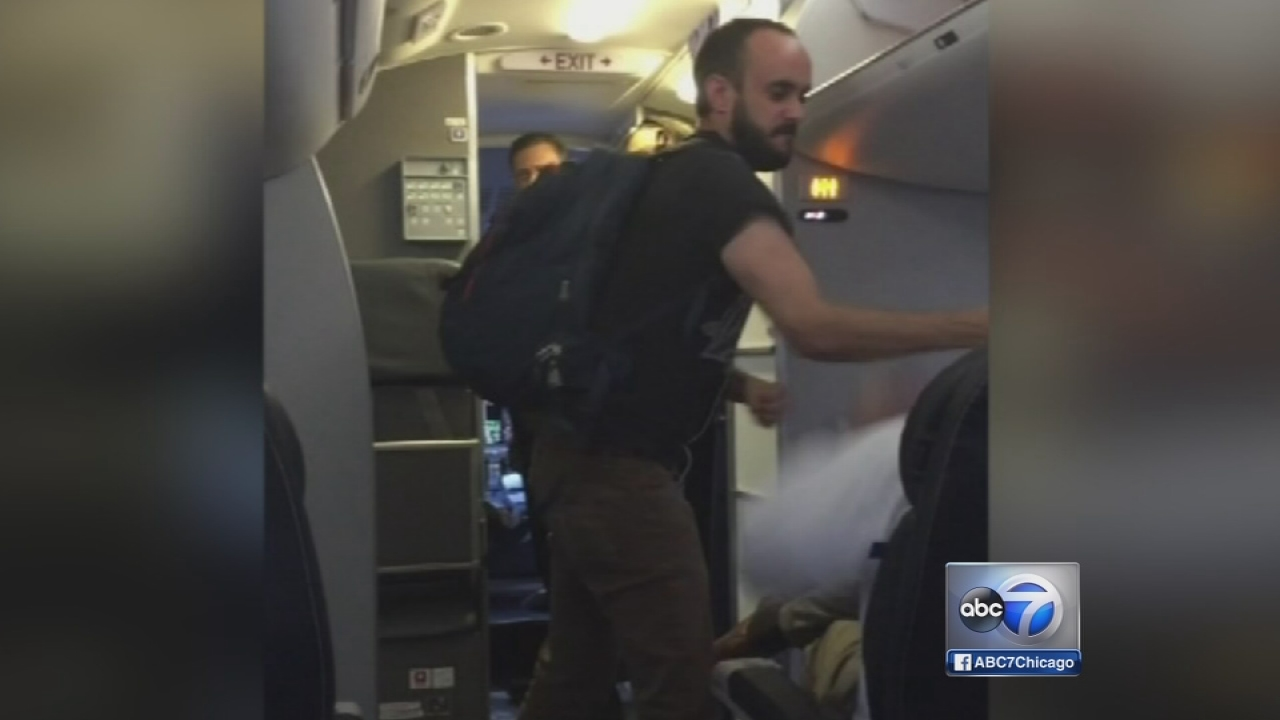 Video shows fight on flight