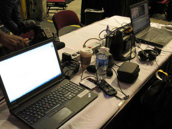 """<div class=""""meta image-caption""""><div class=""""origin-logo origin-image none""""><span>none</span></div><span class=""""caption-text"""">ABC-13's work station at the GOP debate in Cleveland (KTRK Photo)</span></div>"""