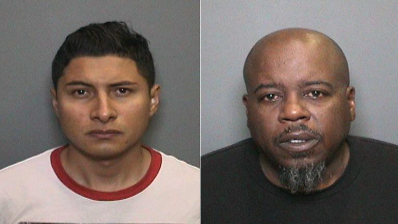 Miguel Villagomez Jr., 26, left, and Jerro Roderick, 51, right, were arrested on suspicion of vehicular manslaughter on Friday, Aug. 7, 2015.