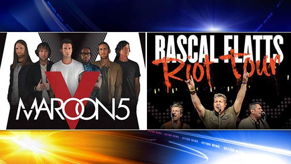 maroon five and rascal flats