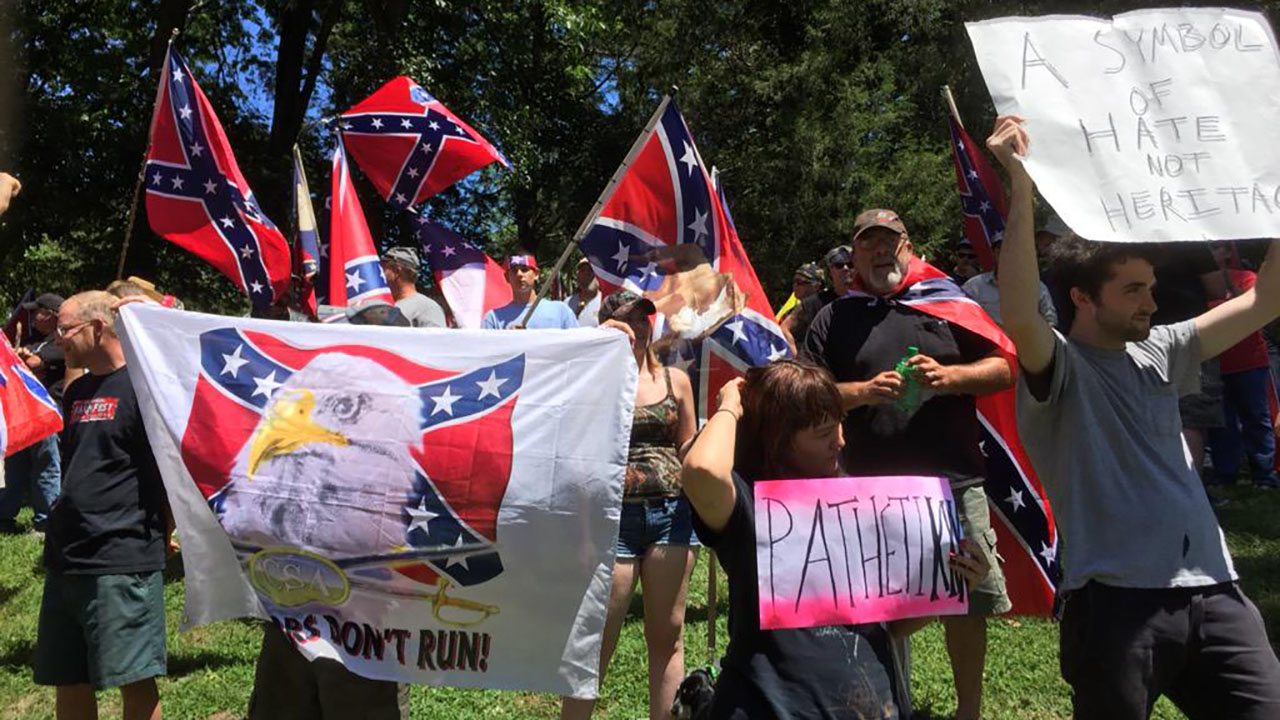 Confederate flag rally held in Hillsborough, N.C. Saturday August 8th.
