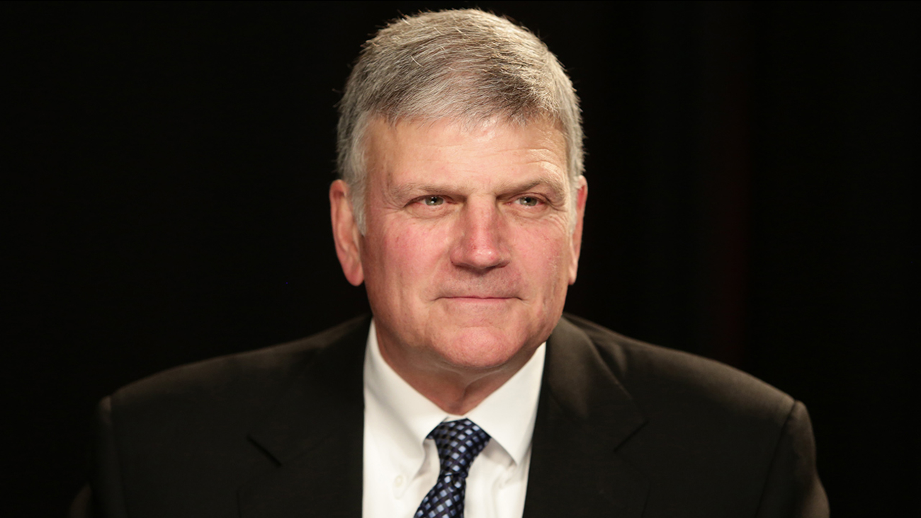 Franklin Graham before an interview at the Associated Press office