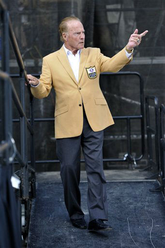 "<div class=""meta image-caption""><div class=""origin-logo origin-image none""><span>none</span></div><span class=""caption-text"">Former NFL football player Frank Gifford during the induction ceremony at the Pro Football Hall of Fame Saturday, Aug. 3, 2013, in Canton, Ohio. (AP Photo/David Richard) (AP Photo/ David Richard)</span></div>"