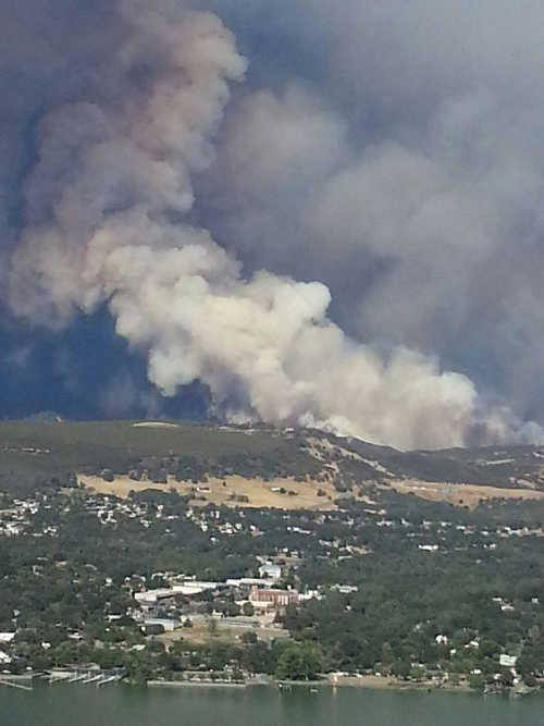 """<div class=""""meta image-caption""""><div class=""""origin-logo origin-image none""""><span>none</span></div><span class=""""caption-text"""">Smoke is seen from the Jerusalem Fire that prompted evacuations in Lake County, Calif. on Sunday, August 9, 2015. (Leonard Lea/Lake County News.)</span></div>"""