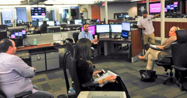 """<div class=""""meta image-caption""""><div class=""""origin-logo origin-image none""""><span>none</span></div><span class=""""caption-text"""">Producers and talent planning the weekend show in the newsroom (KTRK Photo)</span></div>"""