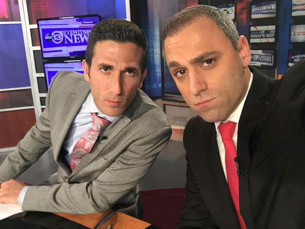 """<div class=""""meta image-caption""""><div class=""""origin-logo origin-image none""""><span>none</span></div><span class=""""caption-text"""">Once Alief ISD rivals, David and Foti shared the anchor desk this weekend (KTRK Photo)</span></div>"""