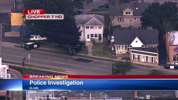 A man was taken into custody after a barricade situation in west suburban Elgin was resolved peacefully.