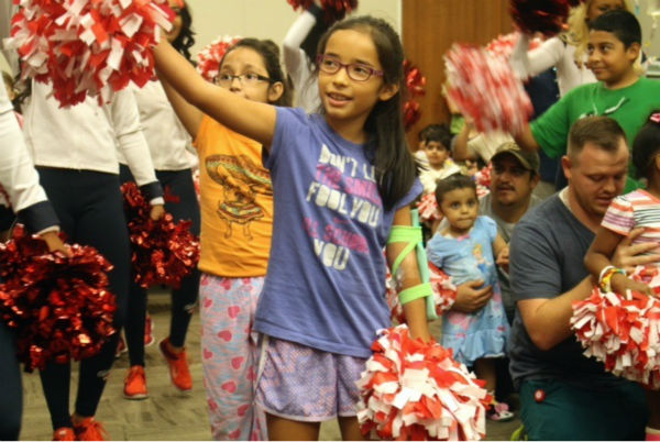 "<div class=""meta image-caption""><div class=""origin-logo origin-image none""><span>none</span></div><span class=""caption-text"">Houston Texans cheerleaders held a Mini Cheer Camp at Texas Children's Hospital (Priscilla Riojas/KTRK)</span></div>"