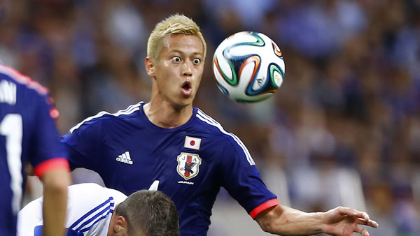 "<div class=""meta image-caption""><div class=""origin-logo origin-image ""><span></span></div><span class=""caption-text"">In this May 27, 2014 photo, Japan's Keisuke Honda, right, fights for the ball with Cyprus' Giorgos Merkis during a friendly soccer match in Saitama, north of Tokyo. (AP Photo/Shizuo Kambayashi, File)</span></div>"