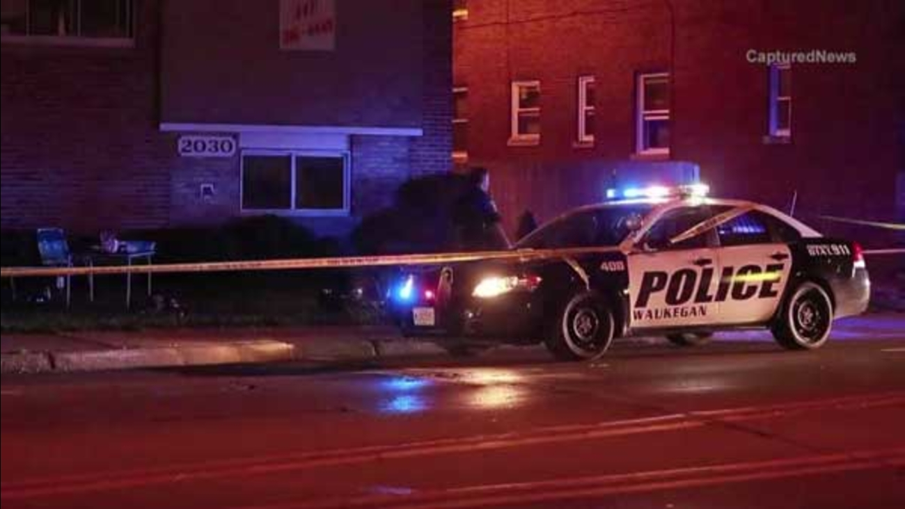 A person was shot outside an apartment complex in north suburban Waukegan.
