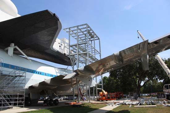 "<div class=""meta image-caption""><div class=""origin-logo origin-image none""><span>none</span></div><span class=""caption-text"">Currently under construction, the eight-story exhibit complex will give visitors a glimpse into the historic shuttle era. (Photo/Space Center Houston)</span></div>"