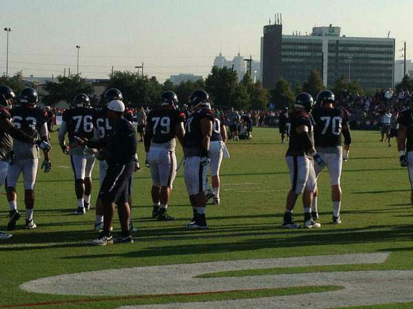 "<div class=""meta image-caption""><div class=""origin-logo origin-image none""><span>none</span></div><span class=""caption-text"">The Texans are back at it at training camp on Wednesday (KTRK Photo)</span></div>"