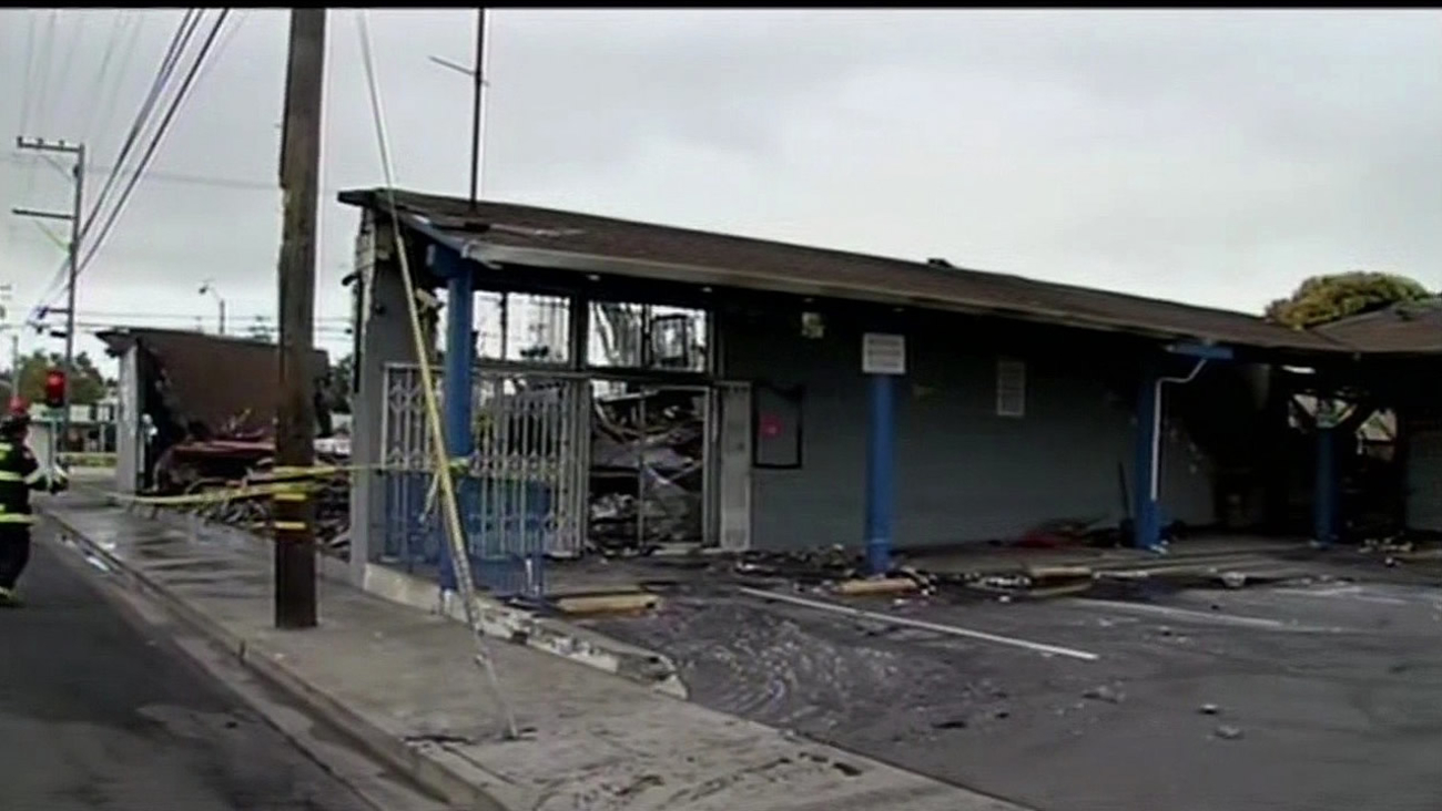 A fire damaged the Marina Supermarket on Doolittle Drive on Monday, August 10, 2015.