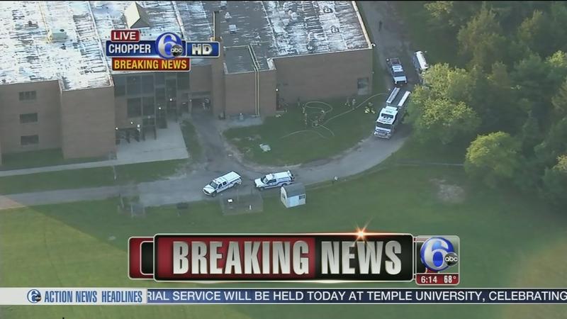 VIDEO: Fire damages high school in Little Egg Harbor, N J