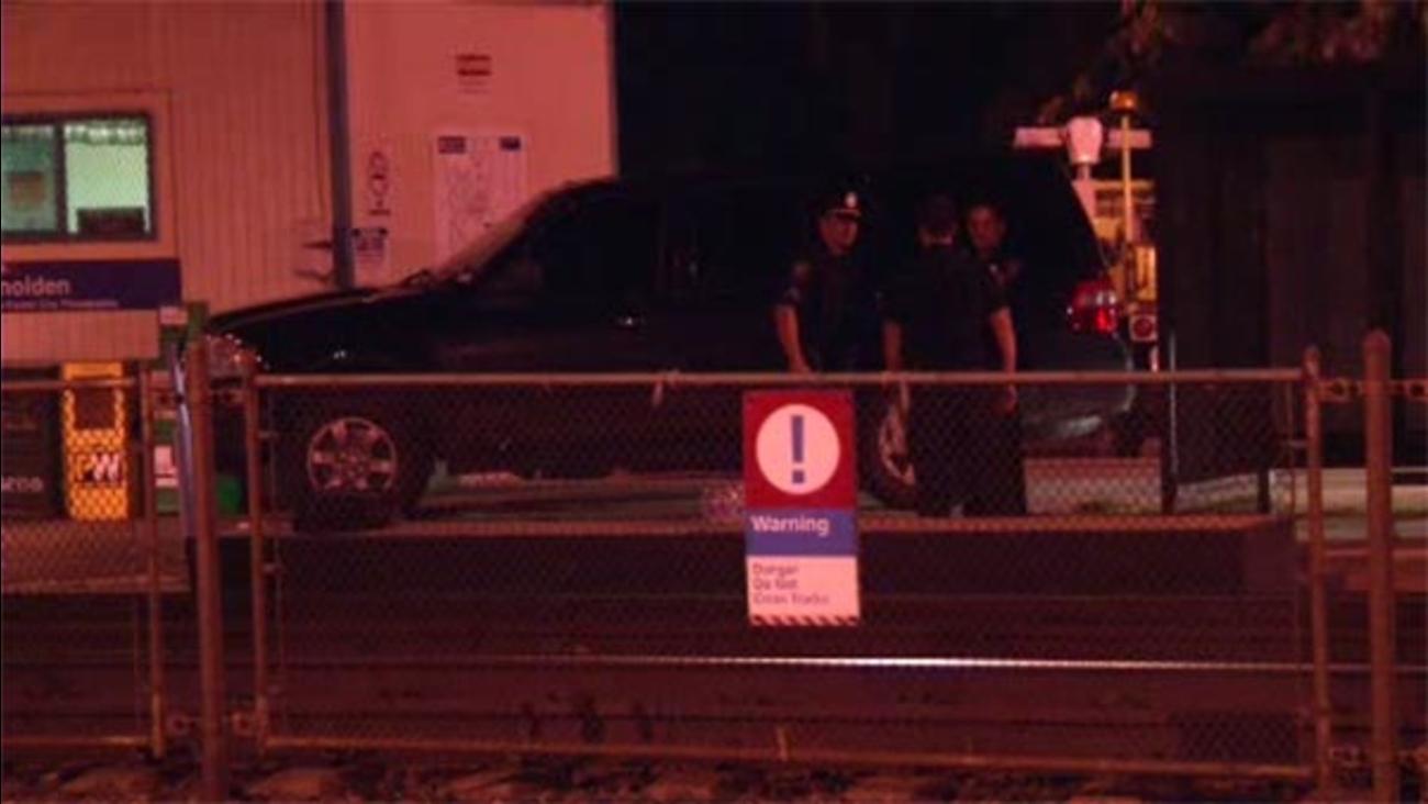 Pedestrian struck by train in Glenolden, Pa.