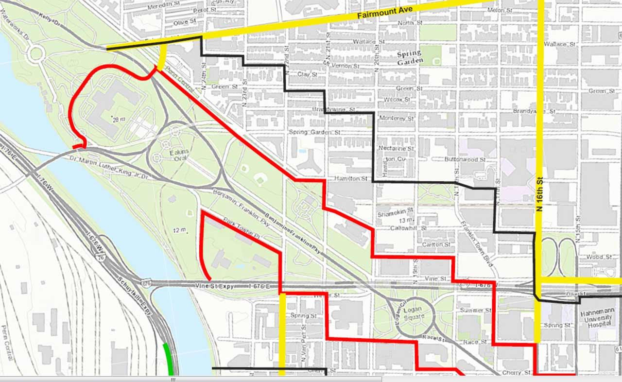 PHOTOS Security Perimeters For Popes Visit To Philadelphia Abccom - Philadelphia university map