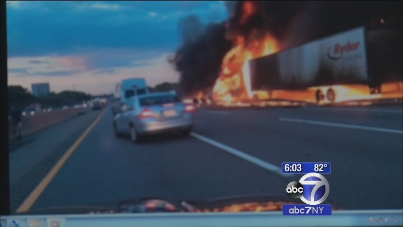 Tourists help save tractor trailer driver after explosive crash