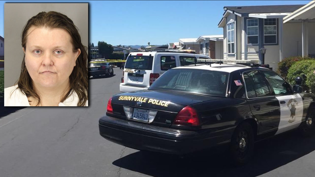 Linde Adrienne Smith is a suspect in a homicide that took place at a mobile home neighborhood in Sunnyvale, California on Thursday, August 13, 2015.