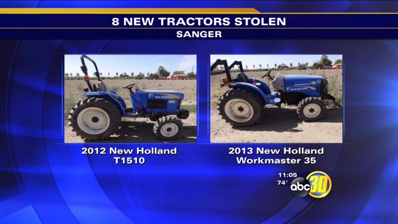 stolen tractors in Sanger - 2012 New Holland T1510, 2013 New Holland Workmaster 35