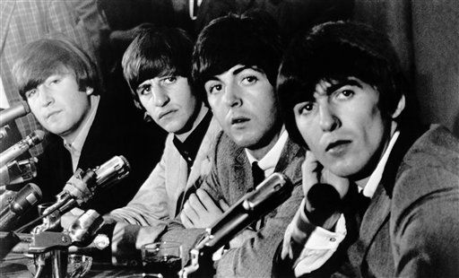 "<div class=""meta image-caption""><div class=""origin-logo origin-image none""><span>none</span></div><span class=""caption-text"">The Beatles face the press at Delmonico's Hotel on Aug. 29, 1964. (AP Photo)</span></div>"