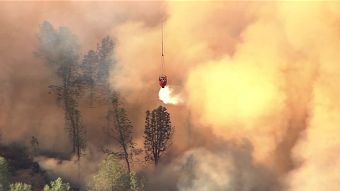 The Jerusalem Fire burning in Lake and Napa Counties has grown to 24,555 acres and is 52 percent contained as of Friday, August 14, 2015.
