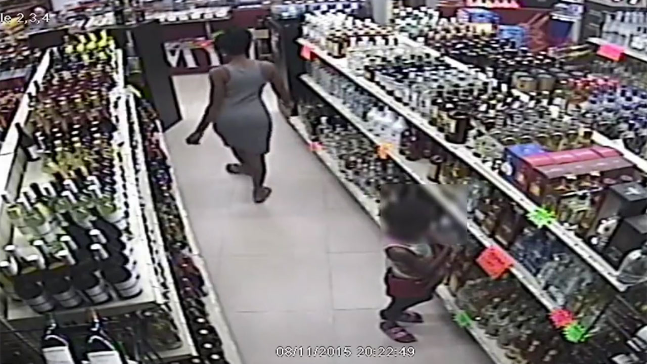 Liquor bottle theft