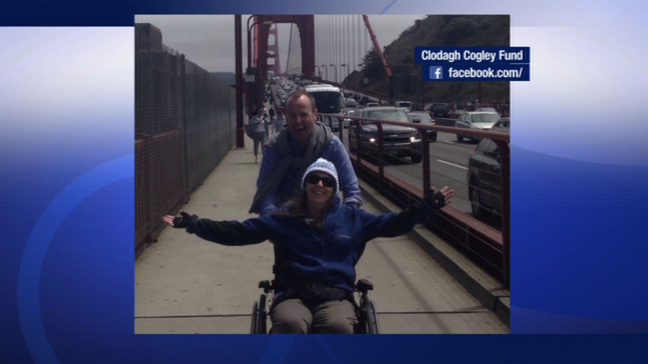 Clodagh Cogley was smiling as her dad wheeled her across the Golden Gate Bridge earlier this month in a photo shared on Friday, August 14, 2015.