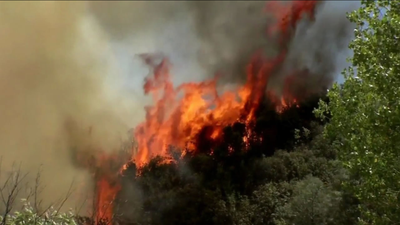 The Jerusalem Fire burning in Lake and Napa counties is 82 percent contained as of Sunday, August 16, 2015.