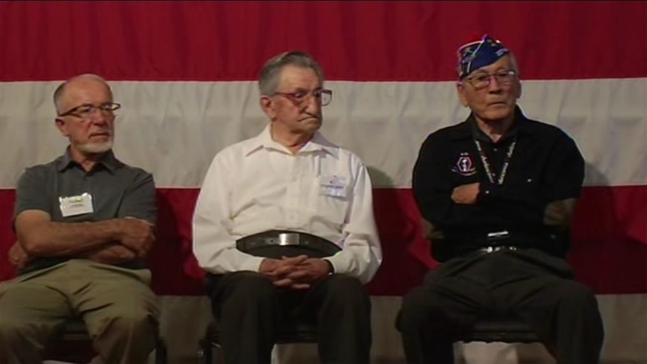 ABC7 News was at the USS Hornet Museum in Alameda, Calif. on Saturday, August 15, 2015 as living members of the 442nd Regimental Combat Team shared their stories.