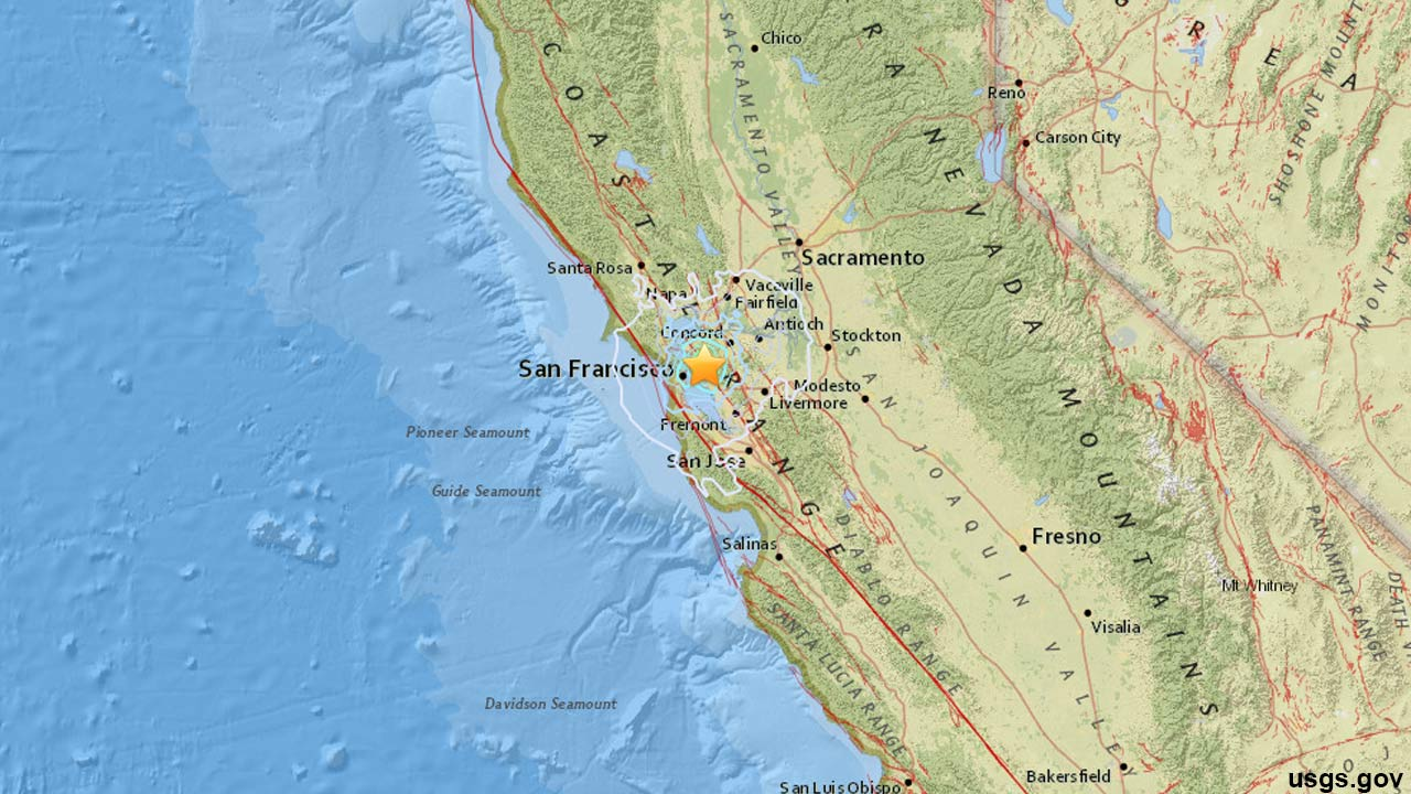 An earthquake with a preliminary magnitude of 4.0 struck the Bay Area around 7 a.m. Monday, Aug. 17, 2015.
