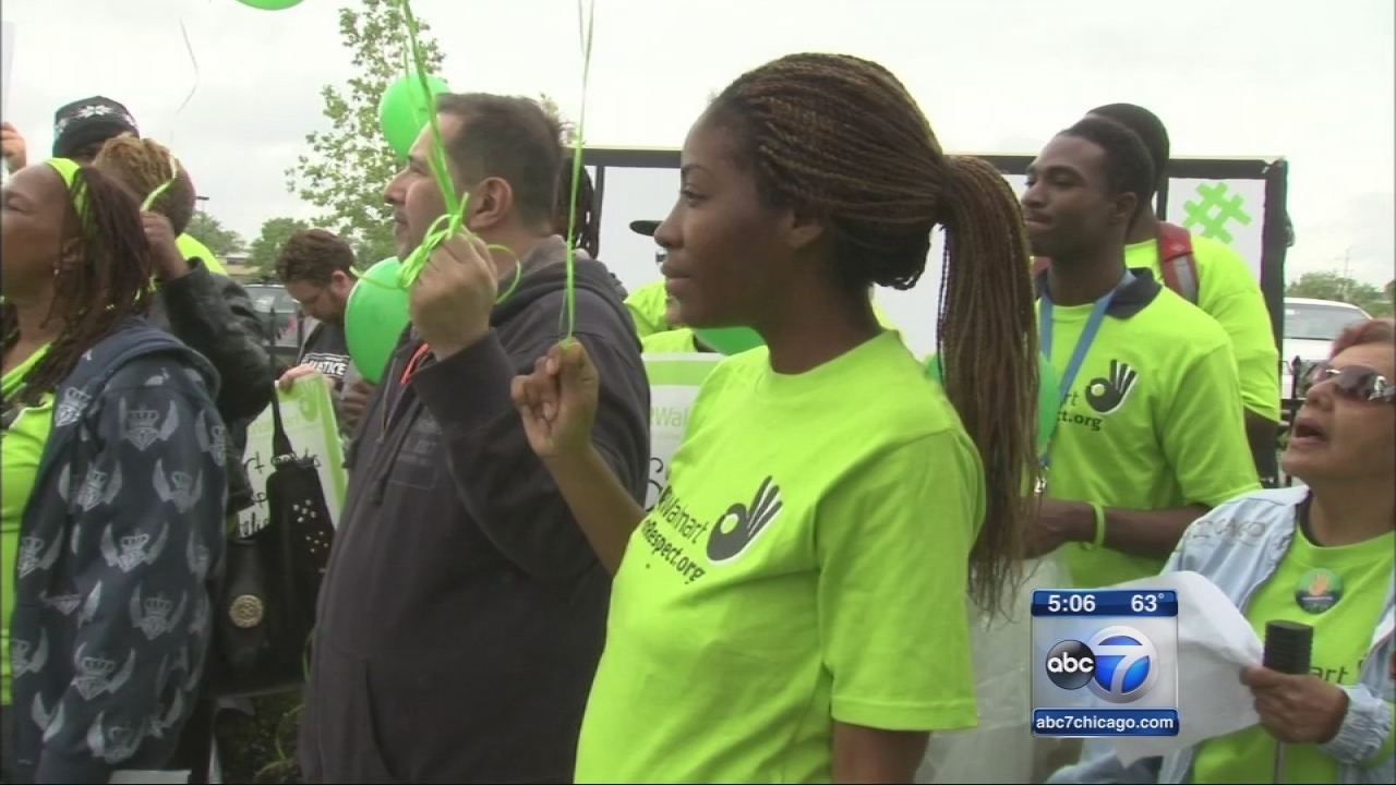 Walmart employees protest low wages