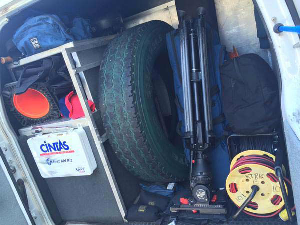 """<div class=""""meta image-caption""""><div class=""""origin-logo origin-image none""""><span>none</span></div><span class=""""caption-text"""">Pearland's tire that they use for batting practice couldn't fit on the plane so we are bringing it to them. (KTRK Photo)</span></div>"""