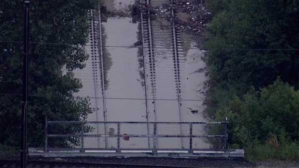 CTA Pink Line trains are moving again between the 54th/Cermak and Pulaski stations after flooding halted service for several hours early Tuesday morning.