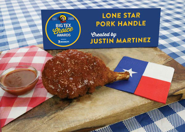 <div class='meta'><div class='origin-logo' data-origin='none'></div><span class='caption-text' data-credit='State Fair of Texas'>Lone Star Pork Handle by Justin Martinez</span></div>