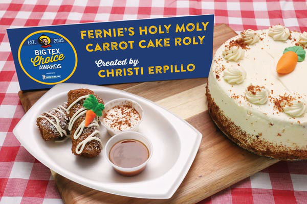 "<div class=""meta image-caption""><div class=""origin-logo origin-image none""><span>none</span></div><span class=""caption-text"">Fernie's Holy Moly Carrot Cake Roly by Christi Erpillo (State Fair of Texas)</span></div>"