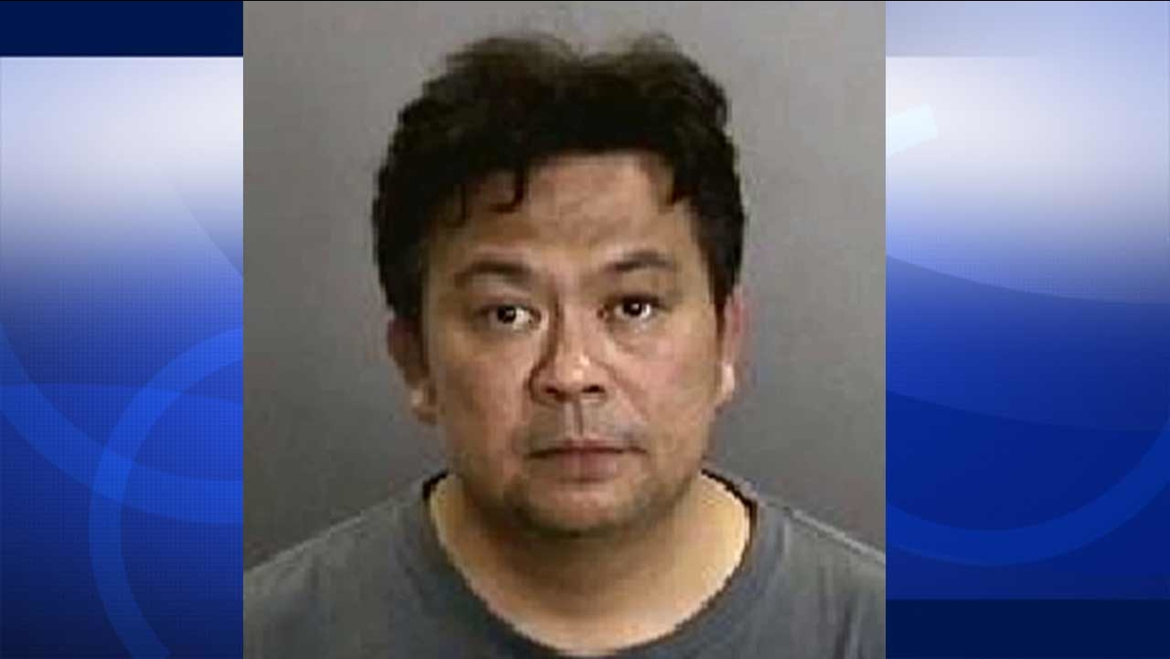 Percival Aguilar Agoncillo, 44, of San Francisco was arrested in the esplanade area between Disneyland and California Adventure on Thursday, July 9, 2015.