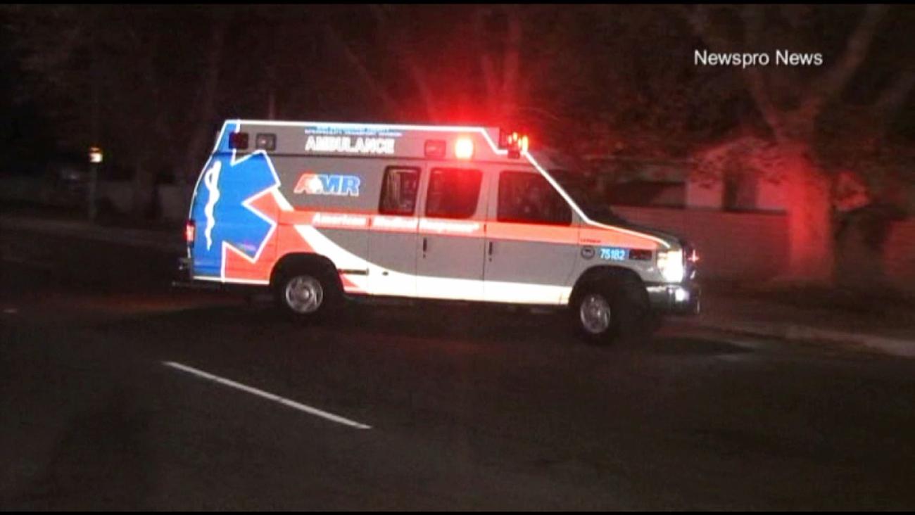 A pedestrian was critically injured following a hit-and-run crash in San Bernardino on Tuesday, Aug. 18, 2015.
