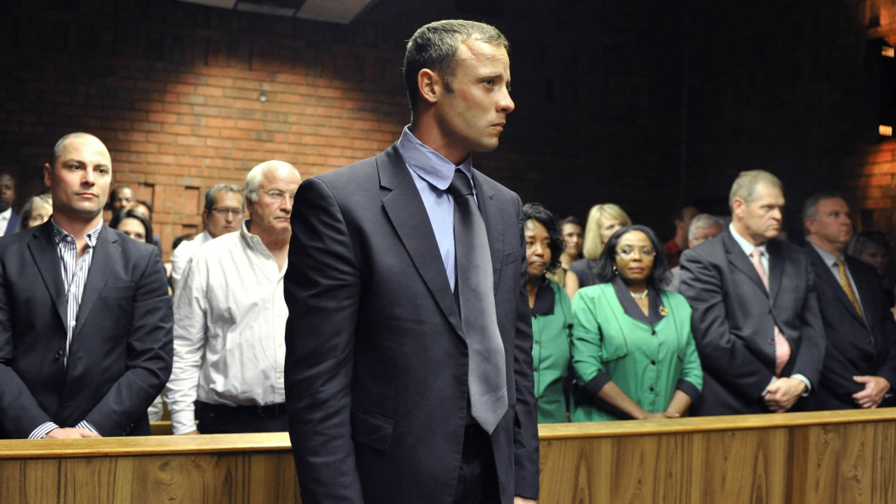 FILE: Oscar Pistorius in court in Pretoria, South Africa, in 2014.