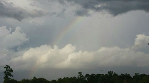 """<div class=""""meta image-caption""""><div class=""""origin-logo origin-image none""""><span>none</span></div><span class=""""caption-text"""">A rainbow popped up following storms this afternoon (Photo/iWitness Photo)</span></div>"""