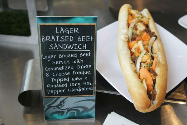 "<div class=""meta image-caption""><div class=""origin-logo origin-image none""><span>none</span></div><span class=""caption-text"">Lager Braised Beef Sandwich (Photo/Philadelphia Eagles)</span></div>"