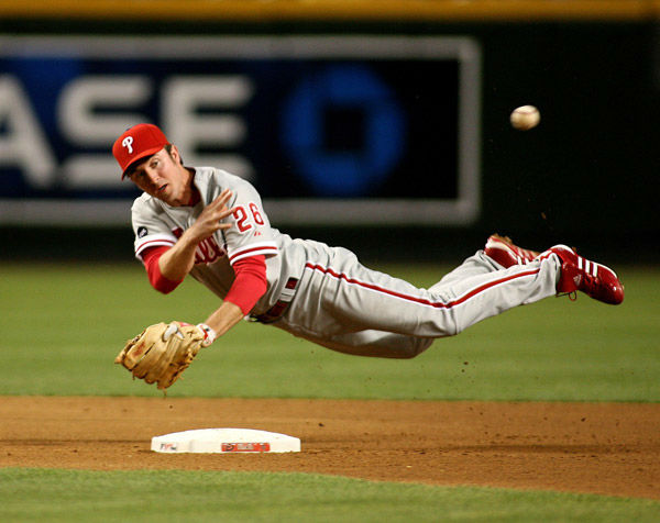"""<div class=""""meta image-caption""""><div class=""""origin-logo origin-image none""""><span>none</span></div><span class=""""caption-text"""">Chase Utley makes the off-balance throw to first base during a National League baseball game on Tuesday, May 8, 2007, in Phoenix. (AP Photo/ Rick Scuteri)</span></div>"""