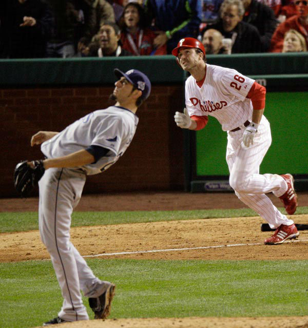 """<div class=""""meta image-caption""""><div class=""""origin-logo origin-image none""""><span>none</span></div><span class=""""caption-text"""">Chase Utley watches his solo home run in the sixth inning of Game 3 of the World Series in Philadelphia, Sunday, Oct. 26, 2008. (AP Photo/ Charles Krupa)</span></div>"""