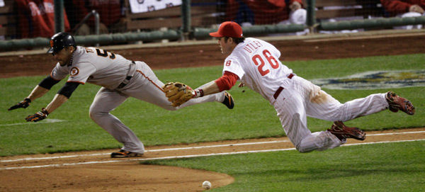 """<div class=""""meta image-caption""""><div class=""""origin-logo origin-image none""""><span>none</span></div><span class=""""caption-text"""">Chase Utley during the ninth inning of Game 6 of National League Championship Series Saturday, Oct. 23, 2010, in Philadelphia. (AP Photo/ Eric Gay)</span></div>"""