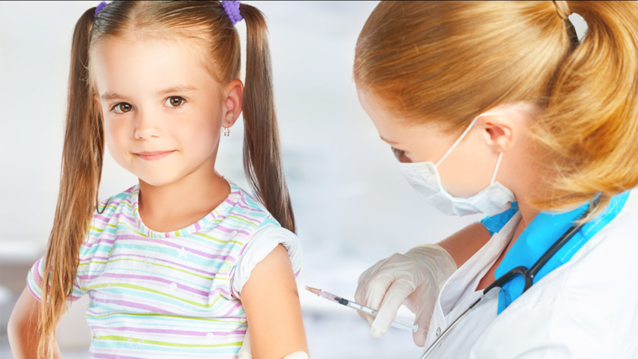 Child getting a vaccine