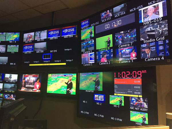 """<div class=""""meta image-caption""""><div class=""""origin-logo origin-image none""""><span>none</span></div><span class=""""caption-text"""">Inside the control room during the 11 a.m. show. The monitors show all the different camera angles directors have to choose from. (KTRK Photo)</span></div>"""