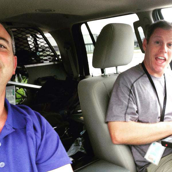 """<div class=""""meta image-caption""""><div class=""""origin-logo origin-image none""""><span>none</span></div><span class=""""caption-text"""">Kevin Quinn and photographer Charles heading out on an assignment (KTRK Photo)</span></div>"""